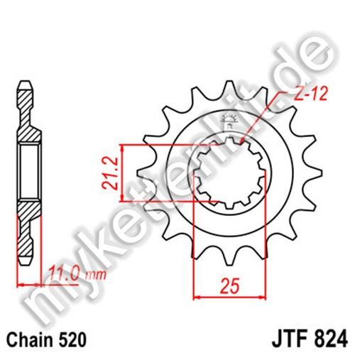 Ritzel JT Sprockets JTF824