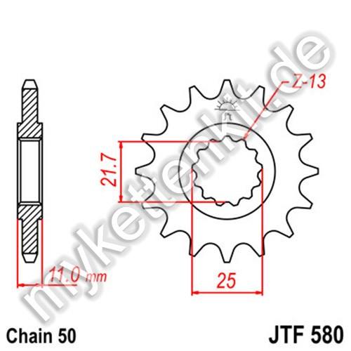 Ritzel JT Sprockets JTF580