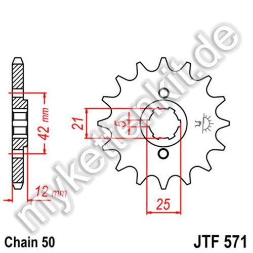 Ritzel JT Sprockets JTF571