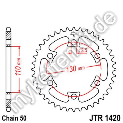 Kettenrad JTR1420 Stahl