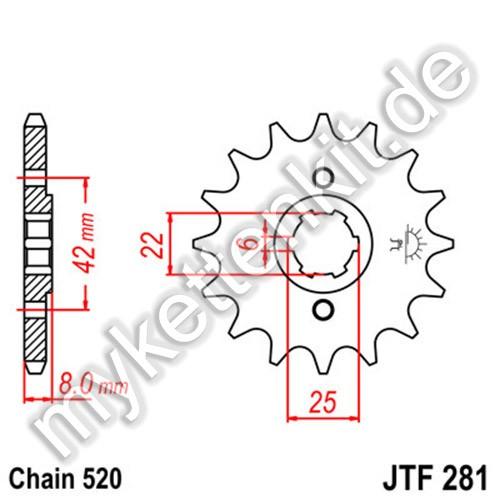 Ritzel JT Sprockets JTF281