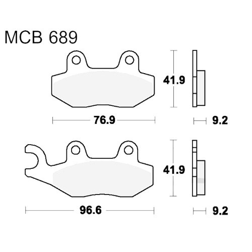 Bremsklotz Standard TRW MCB689 (1 Satz)
