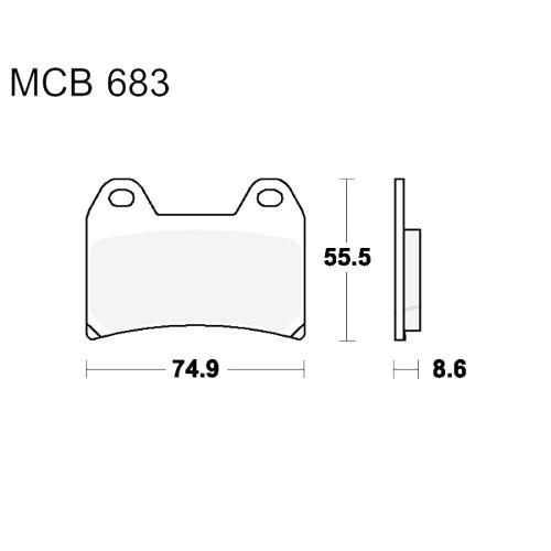 Bremsklotz Sinter vorne TRW MCB683SV (1 Satz)