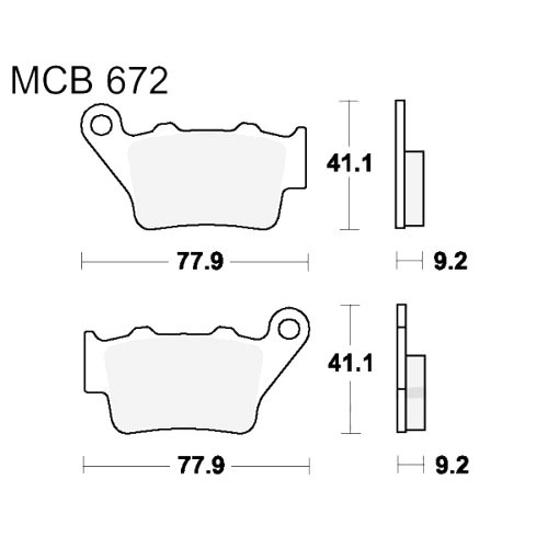 Bremsklotz Standard TRW MCB672 (1 Satz)