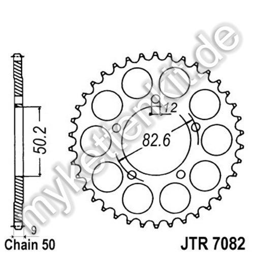 Kettenrad JTR7082 Stahl