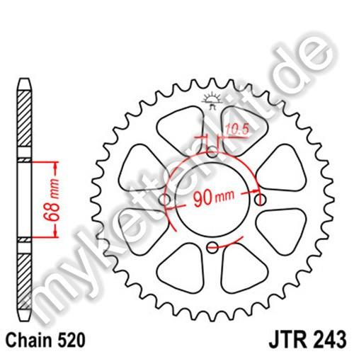 Kettenrad JTR243 Stahl
