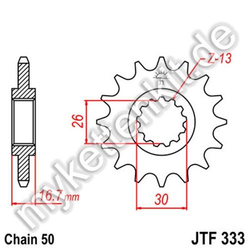 Ritzel JT Sprockets JTF333