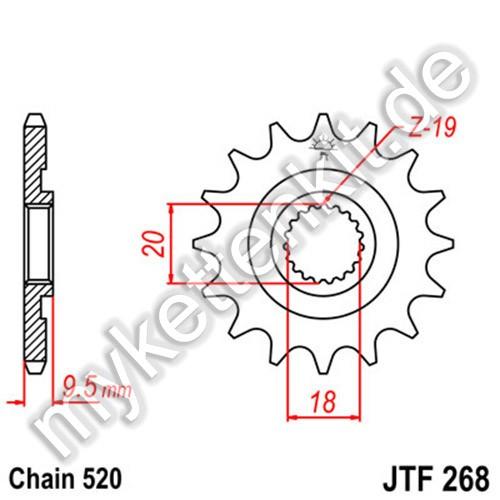 Ritzel JT Sprockets JTF268