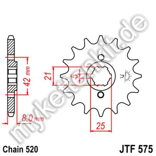 Ritzel JT Sprockets JTF575