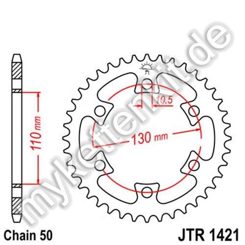 Kettenrad JTR1421 Stahl