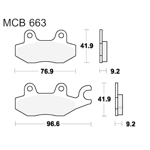 Bremsklotz Standard TRW MCB663 (1 Satz)