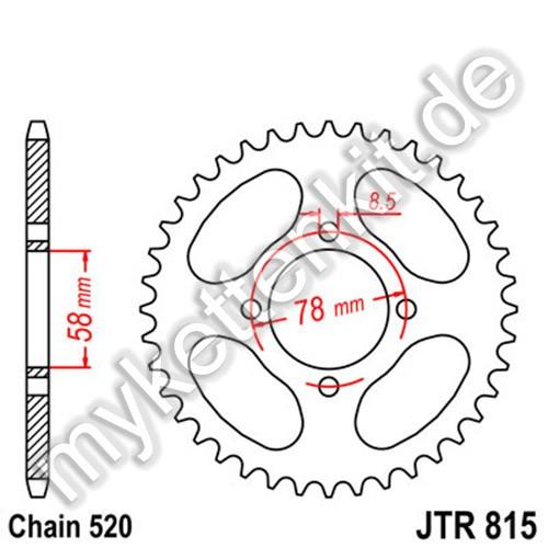 Kettenrad JTR815 Stahl