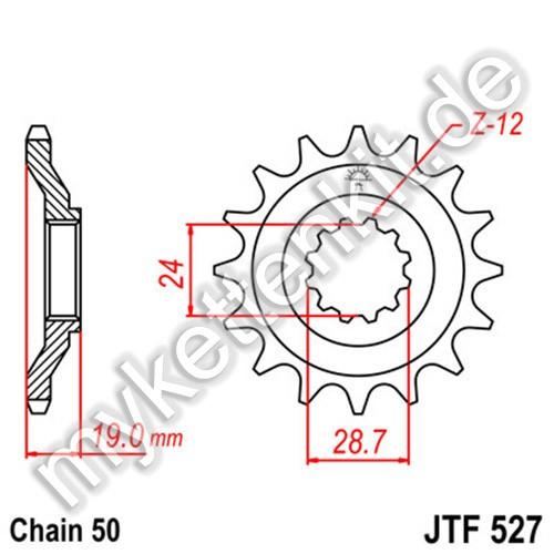 Ritzel JT Sprockets JTF527