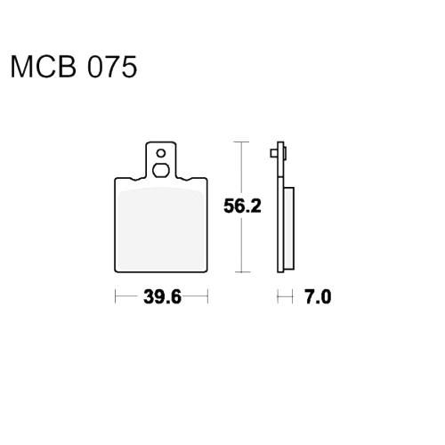 Bremsklotz Standard TRW MCB75 (1 Satz)