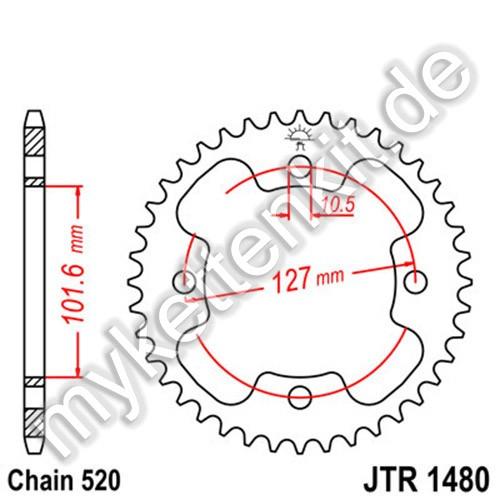 Kettenrad JTR1480 Stahl