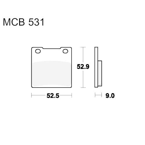 Bremsklotz Sinter hinten TRW MCB531SH (1 Satz)