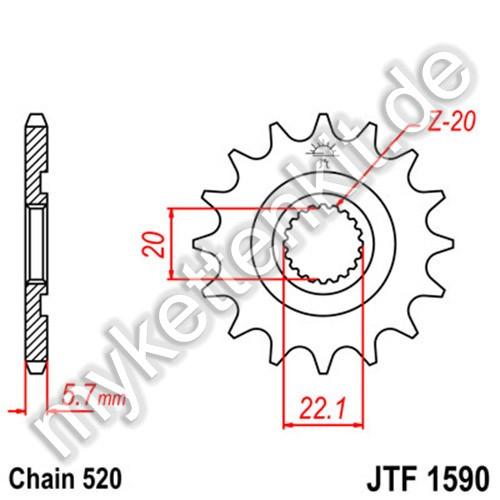 Ritzel JT Sprockets JTF1590