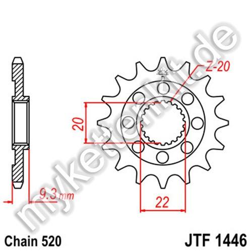 Ritzel JT Sprockets JTF1446