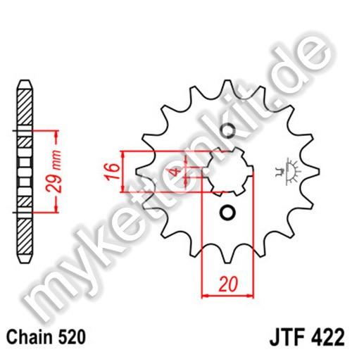 Ritzel JT Sprockets JTF422