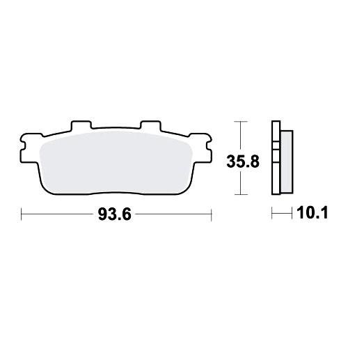 Bremsklotz LC TRW MCB800LC (1 Satz)