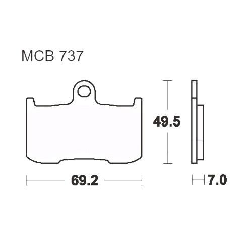 Bremsklotz Standard TRW MCB737 (1 Satz)