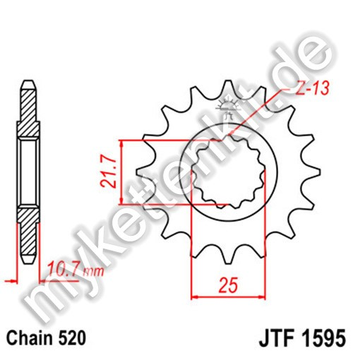 Ritzel JT Sprockets JTF1595