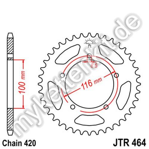 Kettenrad JTR464 Stahl
