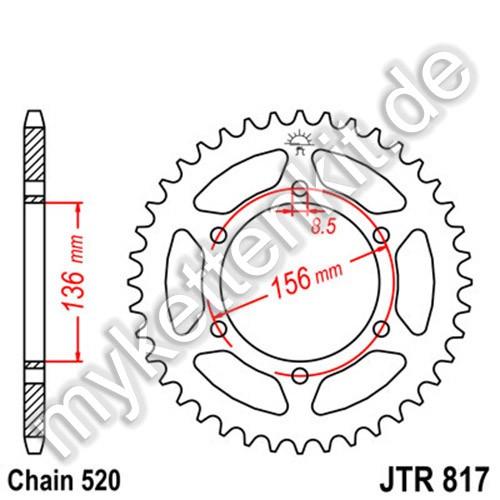 Kettenrad JTR817 Stahl