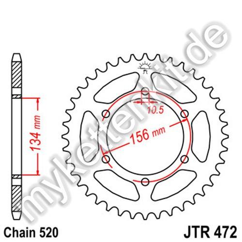 Kettenrad JTR472 Stahl