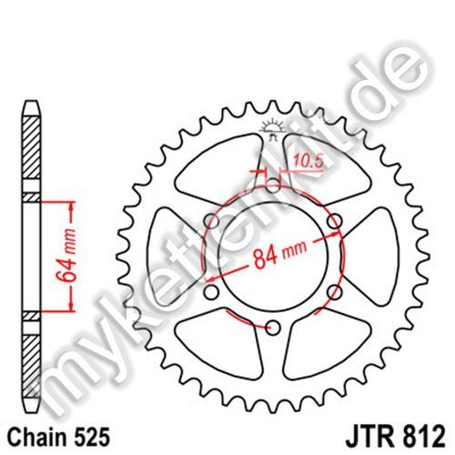 Kettenrad JTR812 Stahl