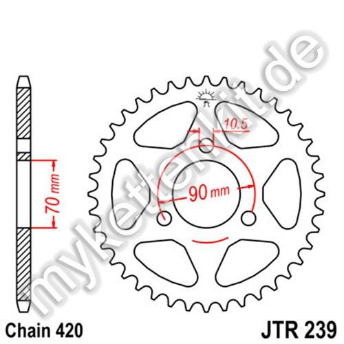 Kettenrad JTR239 Stahl