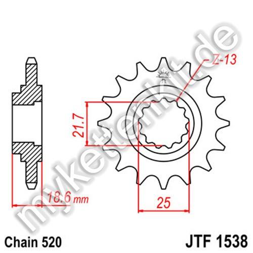 Ritzel JT Sprockets JTF1538