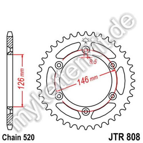 Kettenrad JTR808 Stahl