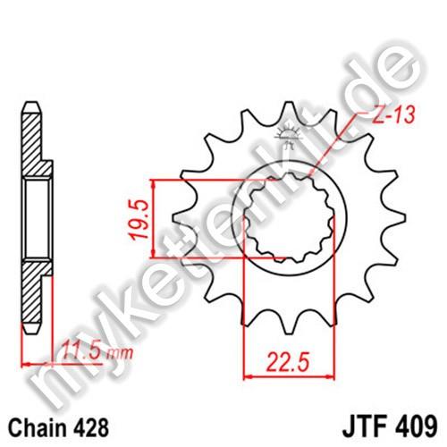 Ritzel JT Sprockets JTF409