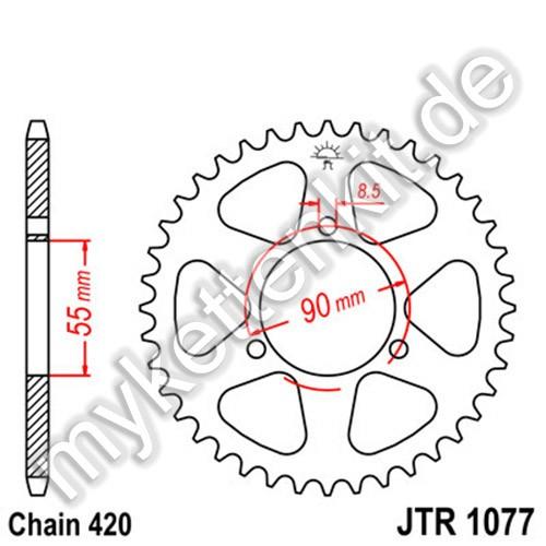 Kettenrad JTR1077 Stahl