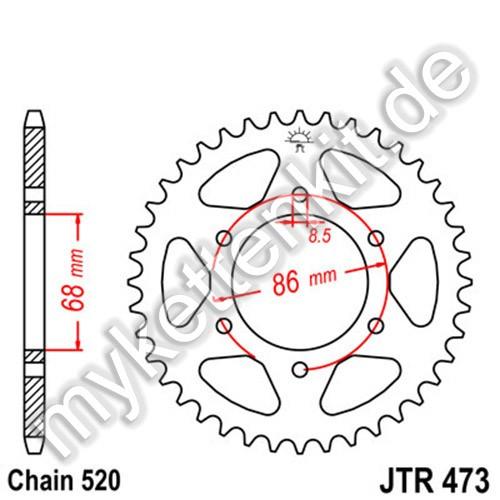 Kettenrad JTR473 Stahl