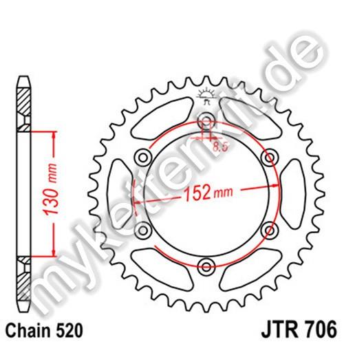 Kettenrad JTR706 Stahl
