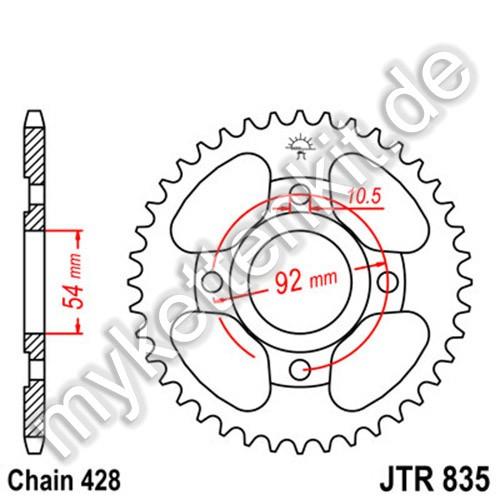 Kettenrad JTR835 Stahl