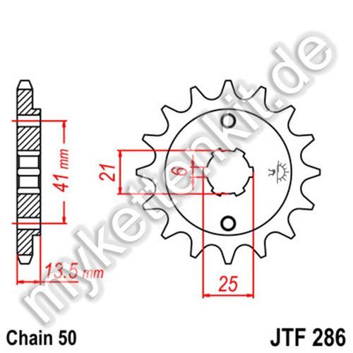 Ritzel JT Sprockets JTF286