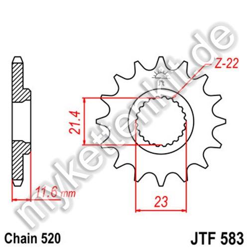 Ritzel JT Sprockets JTF583