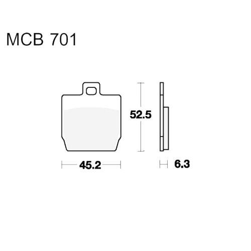 Bremsklotz Scooter TRW MCB701EC (1 Satz)