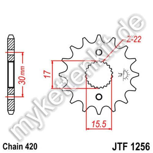 Ritzel JT Sprockets JTF1256