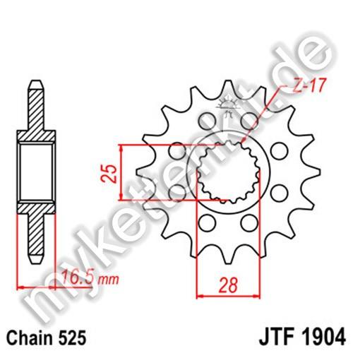 Ritzel JT Sprockets JTF1904