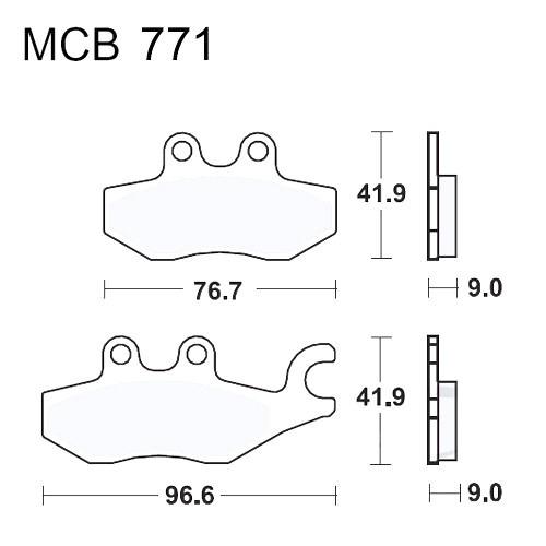 Bremsklotz Standard TRW MCB771 (1 Satz)