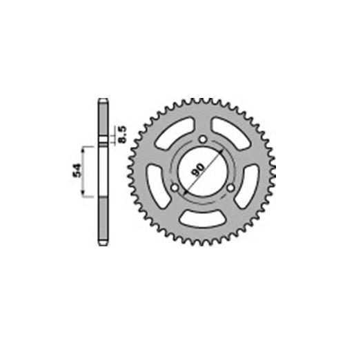 Kettenrad PBR4531F Stahl