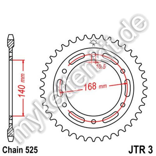 Kettenrad JTR3 Stahl