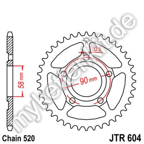 Kettenrad JTR604 Stahl