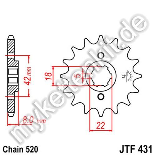 Ritzel JT Sprockets JTF431