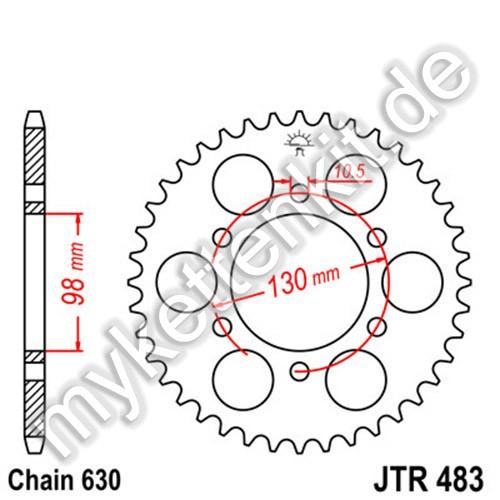 Kettenrad JTR483 Stahl