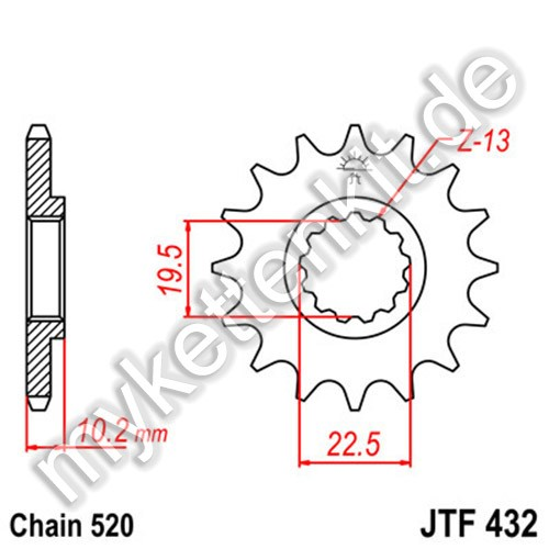 Ritzel JT Sprockets JTF432